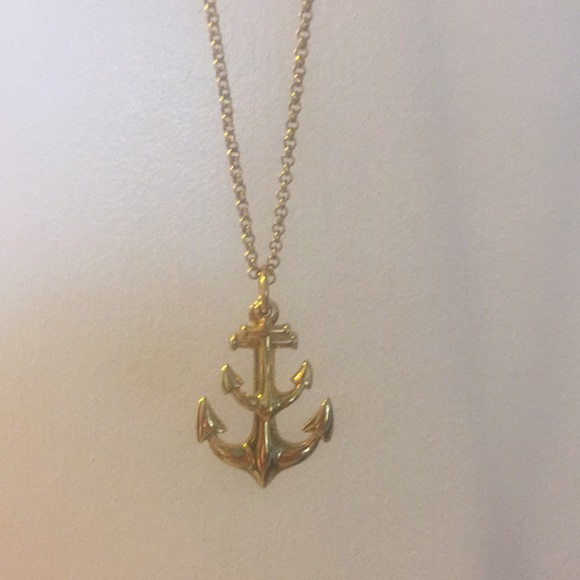 J crew jewelry j crew gold anchor pendant poshmark j crew gold anchor pendant aloadofball Image collections